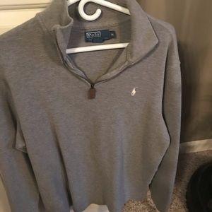 Quarter zip polo sweater
